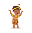 boy wearing national costume of africa colorful vector image vector image