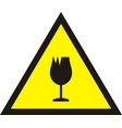 broken glass warning sign vector image vector image