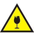 broken glass warning sign vector image