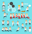 business man character work situations vector image