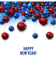 christmas background with red and blue christmas vector image