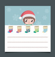 christmas wishlist with a cute elf vector image