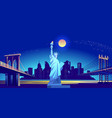 city night landscape vector image vector image