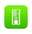 coffee vending machine icon digital green vector image vector image