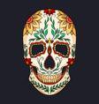 color of a sugar skull the feast o vector image vector image
