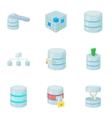 Computer data icons set cartoon style vector image vector image
