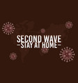 covid19 second wave lettering campaign vector image vector image