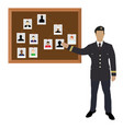 crime investigation concept vector image vector image