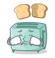crying toaster character cartoon style vector image vector image