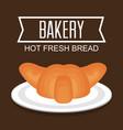 delicious bread product icon vector image vector image