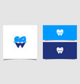 dental logo with smile template vector image vector image