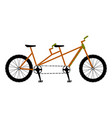 double bicycle icon vector image