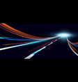 dynamic lights high speed vector image