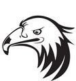 eagle head silhouette icon logo vector image