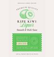 family recipe kiwi liquor acohol label abstract vector image vector image
