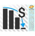 financial crisis flat icon with bonus vector image vector image