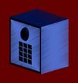 flat shading style icon money safe vector image