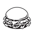graphic hamburger vector image vector image