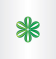 green leaves flower decoration vector image vector image
