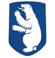 greenland coat arms seal national emblem vector image vector image