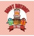 Happy Birthday design cake icon Colorfull vector image vector image