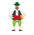 happy man with traditional oktoberfest clothes vector image
