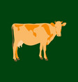 in flat style cow vector image