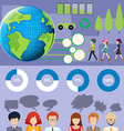 Infographic with people and graphs vector image vector image