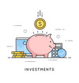 investments money savings budget management vector image vector image