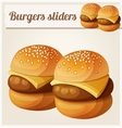 Kids burgers sliders Detailed icon vector image vector image