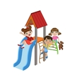 Kids Playing On The Playground vector image