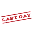 Last Day Watermark Stamp vector image