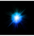 Lens flare effect background vector image vector image