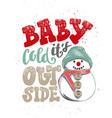 lettering phrase merry xmas for posters vector image