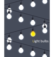 light bulbs vector image vector image