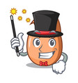 magician broken egg isolated on the mascot vector image