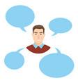 man talking people fashion couple vector image vector image