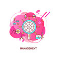 management aim with arrows briefcase business vector image vector image