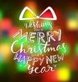 Merry Christmas Card Holiday vector image