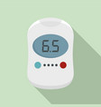 modern glucose meter icon flat style vector image vector image