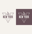 new york textured vintage t-shirt and vector image vector image
