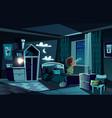 night room boy watching spyglass vector image vector image