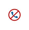 no call logo icon design vector image
