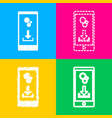 phone settings download and install apps four vector image vector image