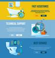 plumbing works toilet bathroom and kitchen water vector image vector image