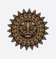 polynesian tattoo design face vector image