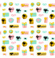 present box seamless pattern vector image