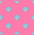 sea shell seamless pattern vector image vector image