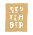 September card Hand drawn modern grunge vector image