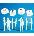 Silhouettes of Business People Working vector image vector image